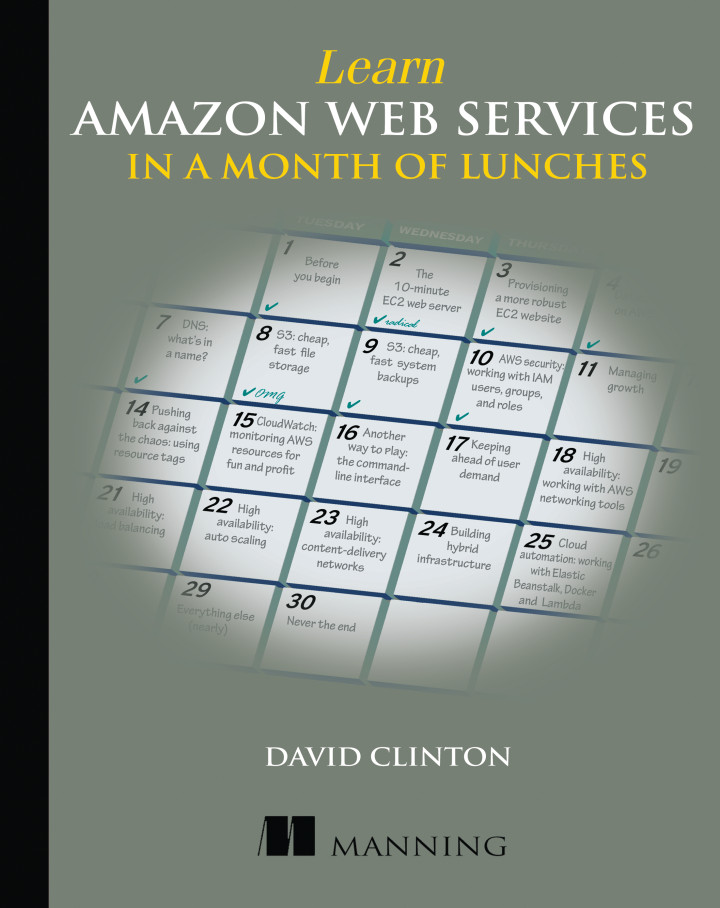About This Book - Learn Amazon Web Services in a Month of Lunches