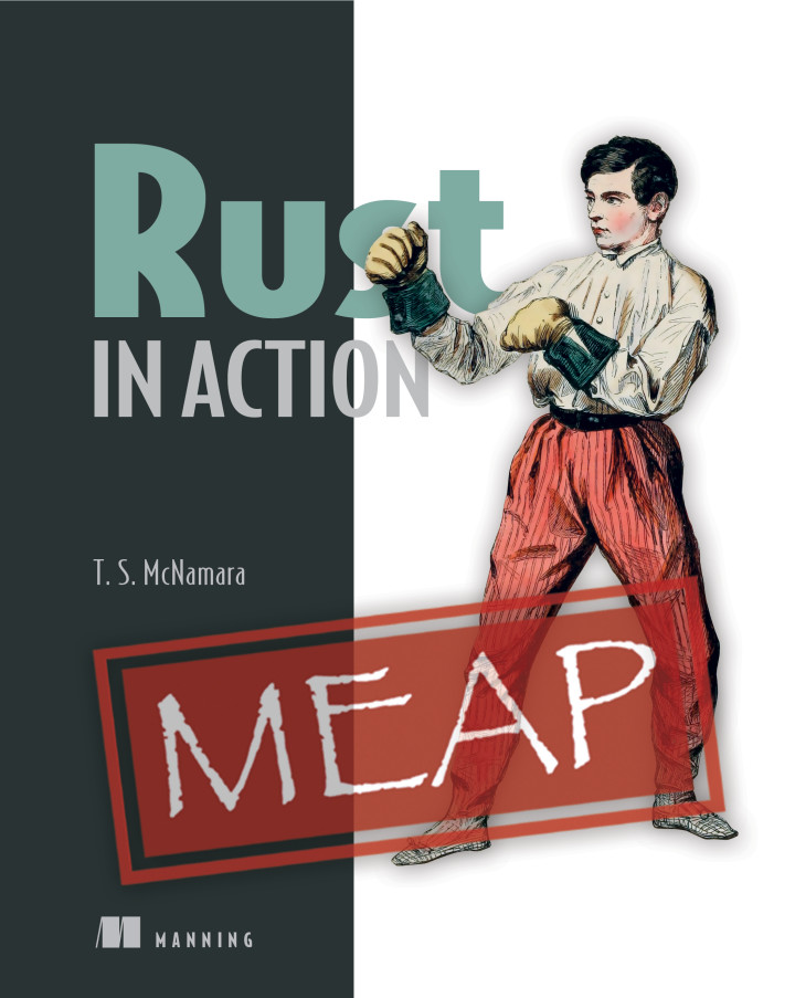 Cover of Rust in Action, published by Manning Publications
