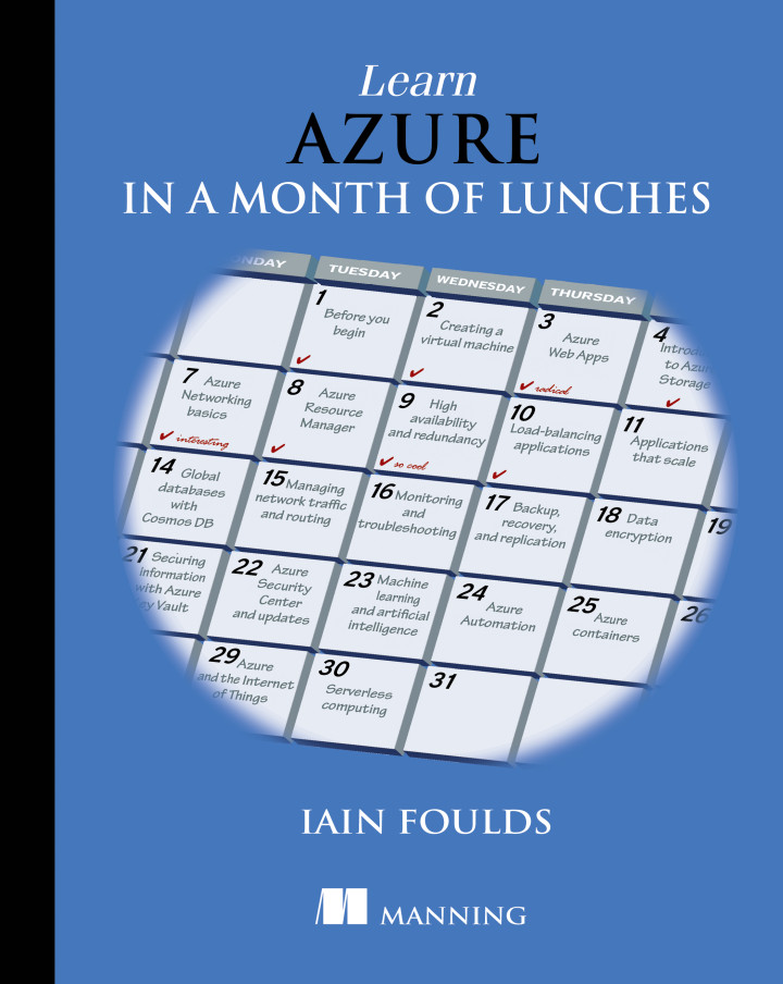 About this book - Learn Azure in a Month of Lunches